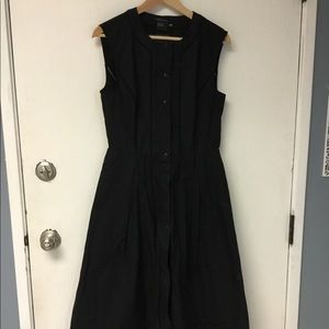 Armani Exchange black midi dress